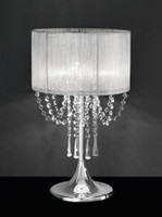 FLT41970  3 Light Crystal Table Lamp Chrome