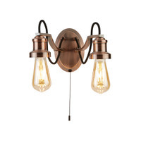 S9110622CU Olivia 2 Light Wall Light Antique Copper