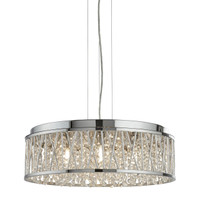 S91833797CC Elise 7 Light Ceiling Pendant Polished Chrome