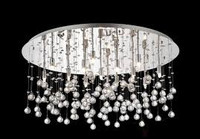 Ideallux MOONLIGHT PL15 Crystal Ceiling Light