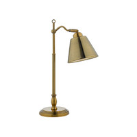 Dar KEM4175 Kempton Antique Brass Task Lamp