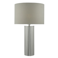 Dar CAS4250 Cassandra Table Lamp Chrome/ Grey Shade