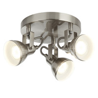 S911543SS 3 Light Satin Nickel Spot Light