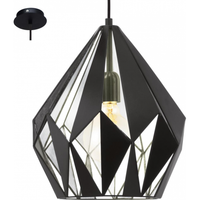 E4149952 1 Light Pendant Black/Silver