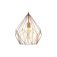 E4149258 1 Light Copper Cage Pendant