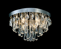 DIL6531433  10 Light Crystal Ceiling Light