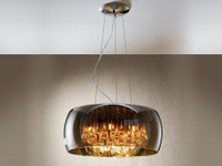 SHARG6L 6 light Smoked Glass pendant