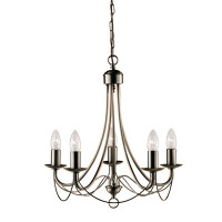 S9163455AB  5 Light Antique Brass Ceiling Light