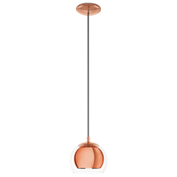 E4194589 Copper 1 Light Ceiling Pendant