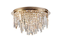 DIL1531711 Flush Crystal 6 Light Rose Gold