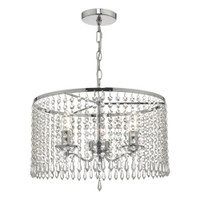 DAR JOC0338 Jocelyn 3lt Chandelier Polished Chrome