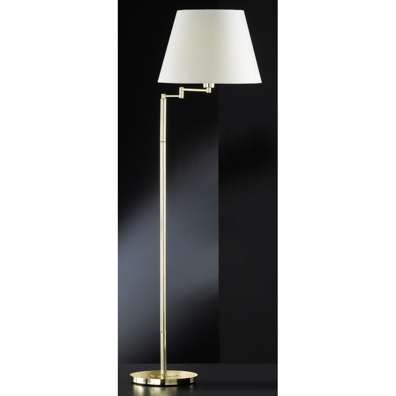 H6147011 Polished Brass Swing Arm Floor Lamp