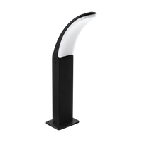 E4198151 Curve Bollard Small Black