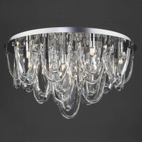 Dar ROX4850 Roxanne 11 Light Flush Chandelier