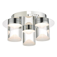 Dar SUS5350 Susa 3 Light Ceiling Light Chrome