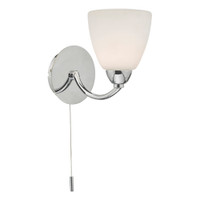 Dar EDA0750 Edanna Wall Light Polished Chrome