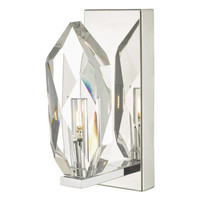 Dar CRY0750 Crystal Wall Light Polished Chrome