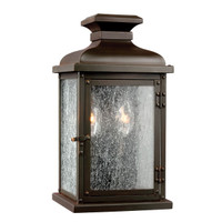EL15FEPEDIMENT/S Small Wall Lantern Dark Aged Copper