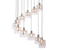 E3176518 Crystal 12 Light Ceiling Pendant Chrome