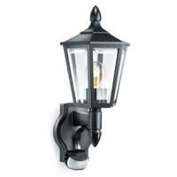 STL15SBLK Black Outdoor Lantern PIR