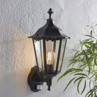 E3176548 Black Outdoor Wall Light PIR