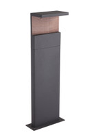 SHOL156772 Angle 60cm Pillar Wood/Graphite Black