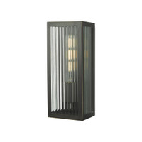 Dar KEE5263 Keegan Rubbed Bronze Outdoor Wall Light