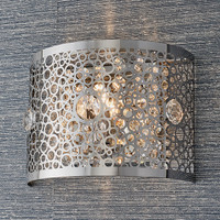 E3181976 1 Light Chrome & Crystal Wall Light