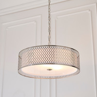 E3181969 Cordero 3 Light Satin Nickel Pendant