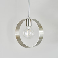 E3190454 1 Light Hoops Satin Nickel Pendant