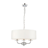 3160129 Abbey 3 Light Bright Nickel Ceiling Pendant