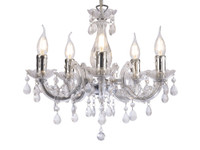DD150417 5 Arm Acrylic Chandelier Chrome