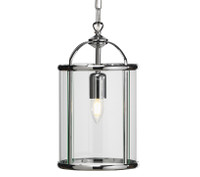 O553511 1 Light Polished Chrome Ceiling Lantern