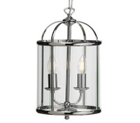 O553512 2 Light Polished Chrome Ceiling Lantern
