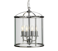 O553514 4 Light Polished Chrome Ceiling Lantern