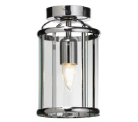 O55351FL 1 Light Polished Chrome Ceiling Lantern