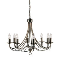 S9163488AB Maypole 8 Light Antique Brass Ceiling Light