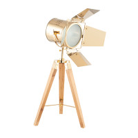 PA30742C Gold & Natural Wood Tripod