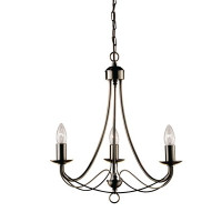 Searchlight 6343-3AB Maypole 3 Light Antique Brass Ceiling Light