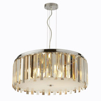 9198355CC 5 Light Chrome & Crystal Pendant Light