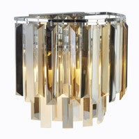 9198322CC 2 Light Chrome & Crystal Wall Light