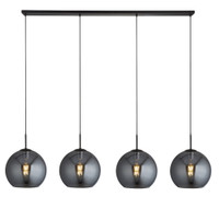 9110244SM 4 Light Matt Black Bar Pendant