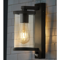 918631BK 1 Light PIR Wall Light Dark Grey