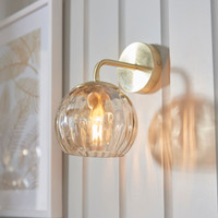 3191970 1 Light Satin Brass Wall Light