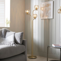 3191974 3 Light Satin Brass Floor Lamp