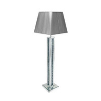 RHPLFL30 Chrome & Crystal Floor Lamp C/w Shade