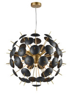 41238612 Brandy 12lt Pendant Matt Black and Gold