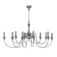 David Hunt BAI1267 Bailey 12 Light Pendant Pewter