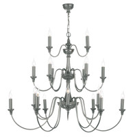 David Hunt BAI2167 Bailey 21 Light Pendant Pewter
