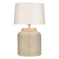 David Hunt TID4133 Tidal Table Lamp Ribbed Small Taupe Base Only